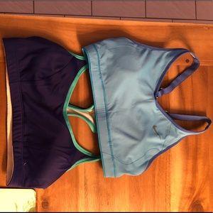 Nike Champion Sports bra bundle pair mesh razor